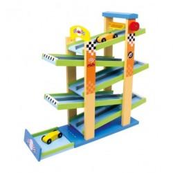 Circuit enfant en bois multicolore