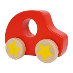 Bolide décoratif pour enfant en bois peint rouge