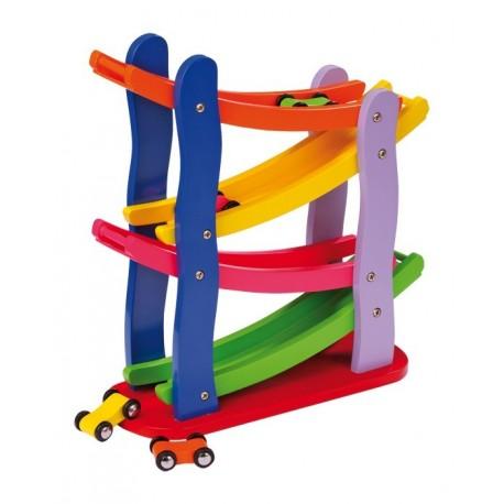 Piste de Formule 1 en bois multicolore