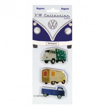 """Jeu De 3 Magnets Combi VW """"Les utilitaires"""""""