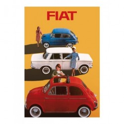 Carte postale FIAT 500 de 14,5x20 cm