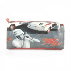 Trousse FIAT 500 de course en PVC illustré course auto