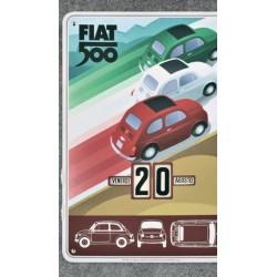 Calendrier intemporel FIAT 500 de 37x27 cm