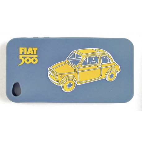 Coque de Iphone 5 en silicone FIAT 500 bleu
