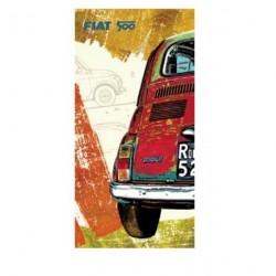 Tableau FIAT 500 multicolore 50x100 cm