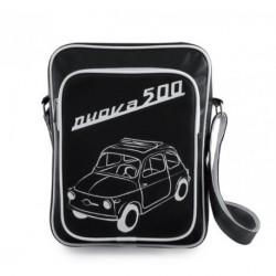 Sac bandoulière FIAT 500 noir sérigraphié blanc
