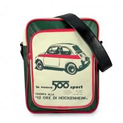 Sac bandoulière FIAT 500 vert, beige et rouge