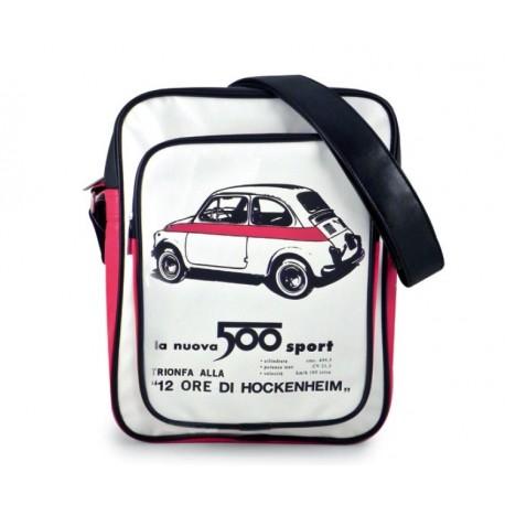 Sac bandoulière FIAT 500 noir, blanc et rouge