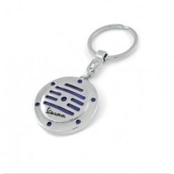 Porte-clef rond façon klaxon de VESPA bleu
