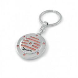 Porte-clef rond façon klaxon de VESPA orange