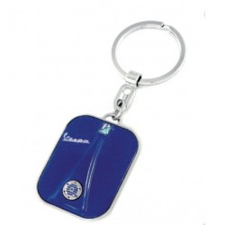 Porte-clef Vespa façon  calandre avant bleu dur