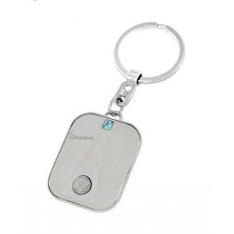 Porte-clef façon avant de VESPA coloris argent bord acier