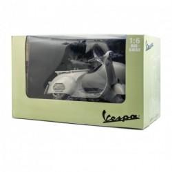 Side-car VESPA miniature 1/6ème en acier peint taille blanc cassé
