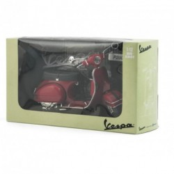 Vespa miniature 1/12ème en acier peint rouge