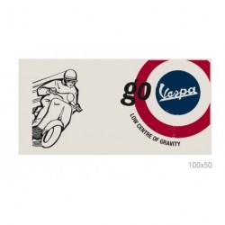 """Tableau VESPA sur toile 100x50cm blanc illustré """"Mods"""""""