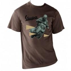 T-shirt homme VESPA 100% coton marron