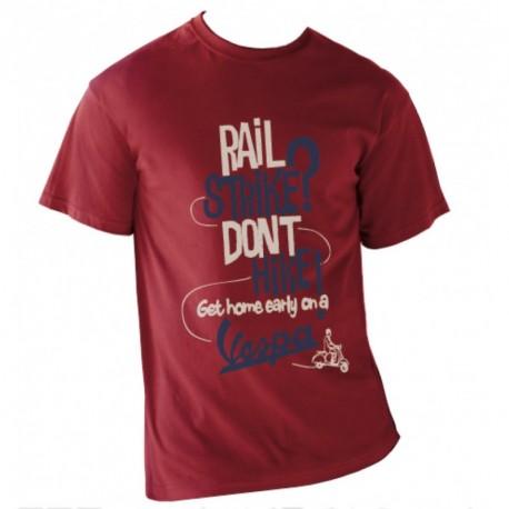 T-shirt homme VESPA 100% coton bordeaux