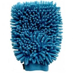 Gant mouffle chenille en microfibre Bleu électrique