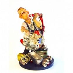 """Figurine Profisti """" Le Mécanicien"""" en résine peinte. Série numérotée"""