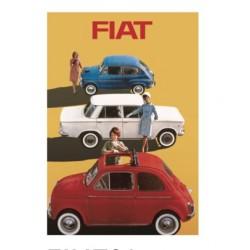 Magnet FIAT 500 de 6,4x8,4 cm