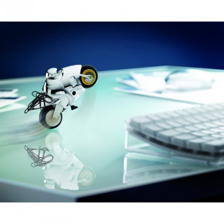 Moto presse-papier décorative à rétro-friction