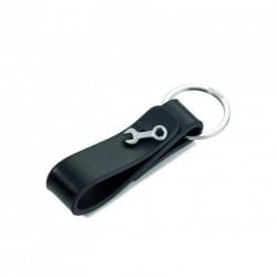 Porte clefs en cuir brodé d'une Clef Anglaise