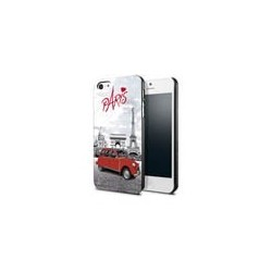 """Coque Iphone 5 sérigraphiée """"Paris En 2 CV"""""""