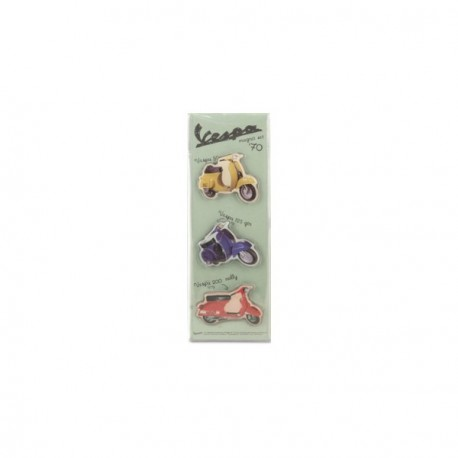 Pack de 3 magnets VESPA des années 70