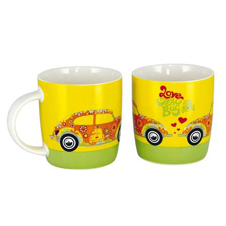 Mug Coccinelle jaune multicolore