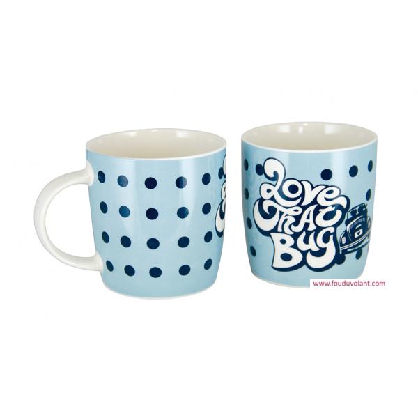 Mug Coccinelle à pois bleu