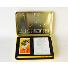 Jeu de carte Michelin avec crayon et bloc-note, en coffret