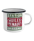 "Mug émail Renault ""Station Graissage"""