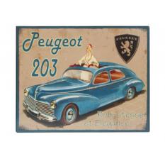 Plaque décorative Peugeot 203 métal