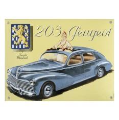 Plaque émail Peugeot 203