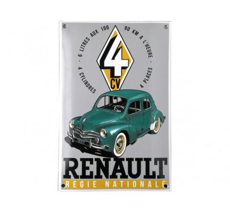 """Plaque émail Renault """"Régie Nationale"""""""