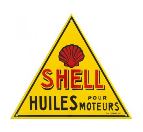 Plaque émail Shell