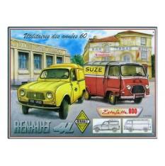 """Plaque Renault """"Utilitaires des années 60"""""""