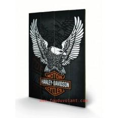 Tableau Harley Davidson en bois