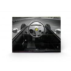 Tableau Ferrari en bois